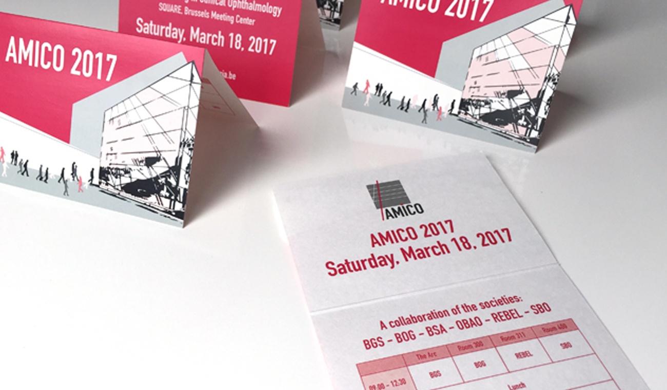 Ontwerp promomateriaal voor AMICO 2017 congres