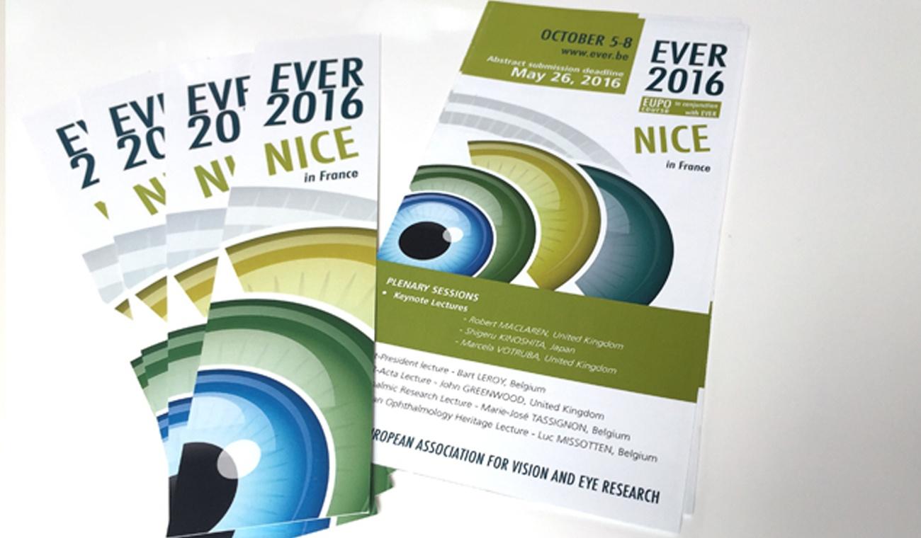 Promomateriaal voor het EVER 2016 congres