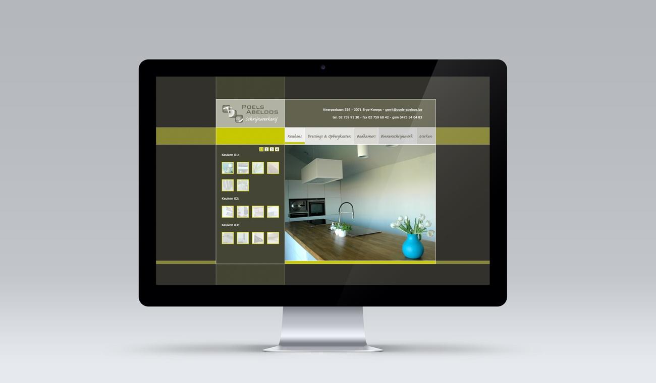 Ontwerp website Poels-Abeloos Schrijnwerkerij