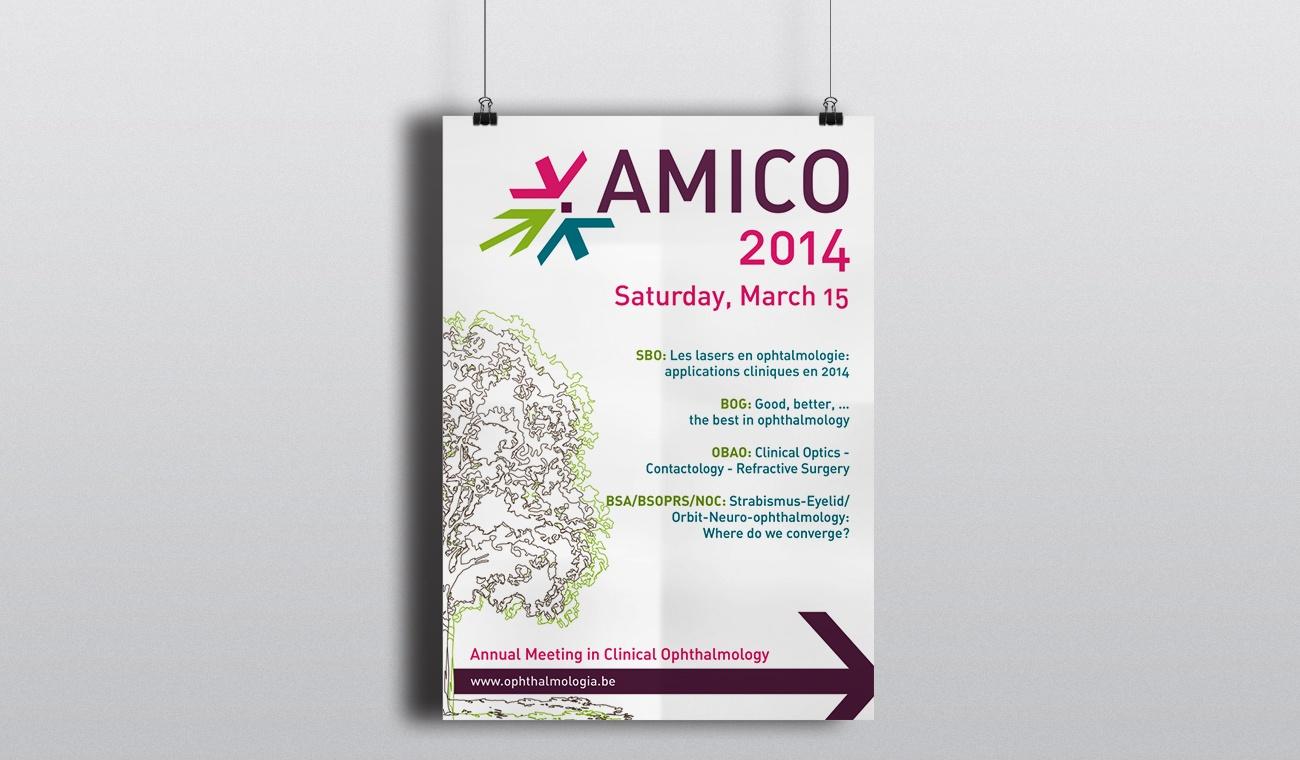 Ontwerp affiche AMICO 2014 congres