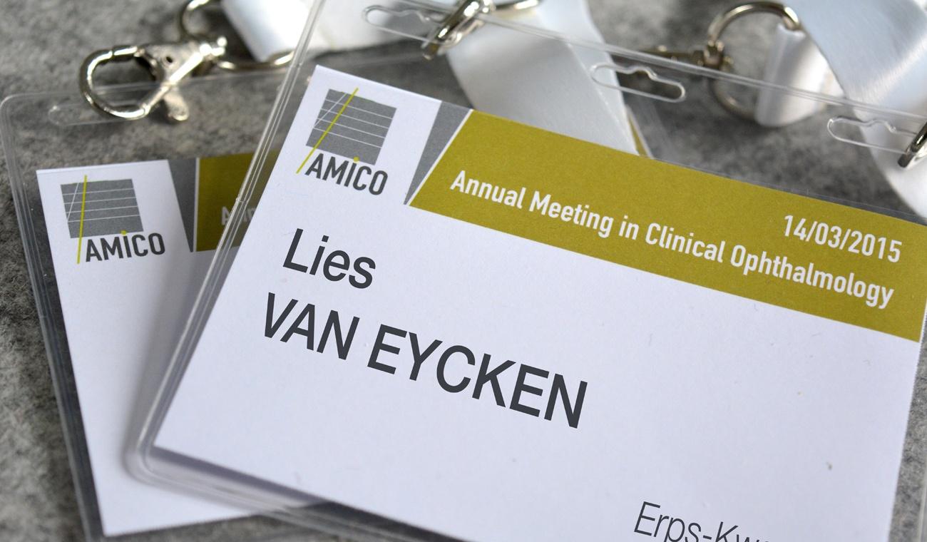 Ontwerp badges voor het AMICO 2015 congres