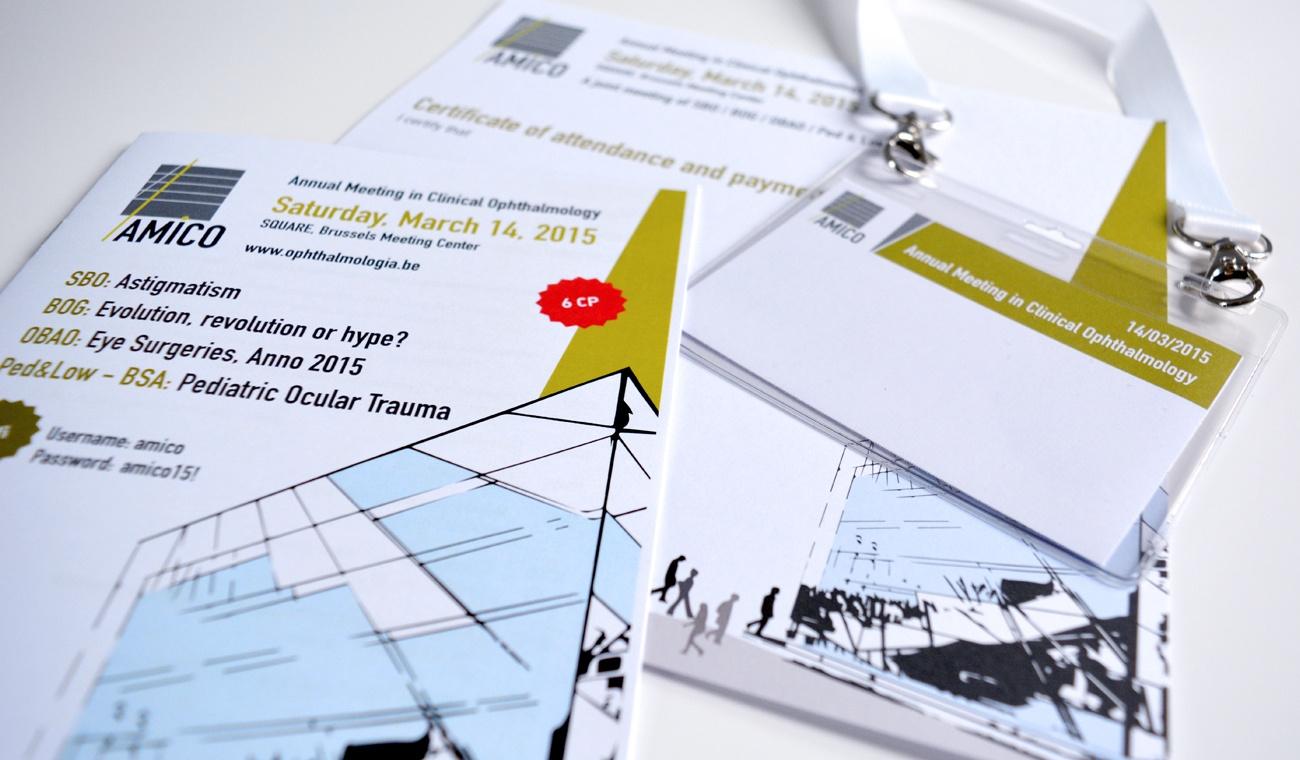 Ontwerp drukwerk voor het AMICO 2015 congres