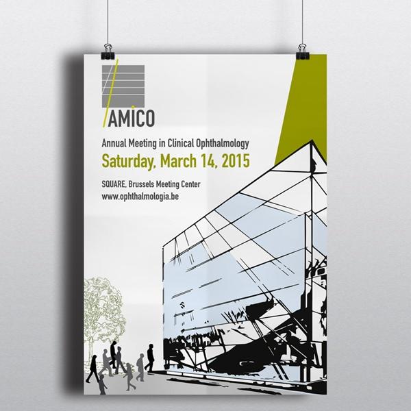 Ontwerp affiche voor het AMICO 2015 congres