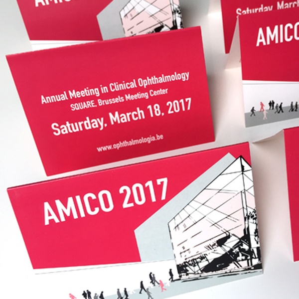 Ontwerp promotiemateriaal voor AMICO 2017 congres