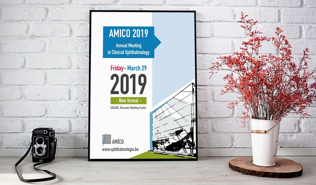 Ontwerp van de AMICO 2019 affiche