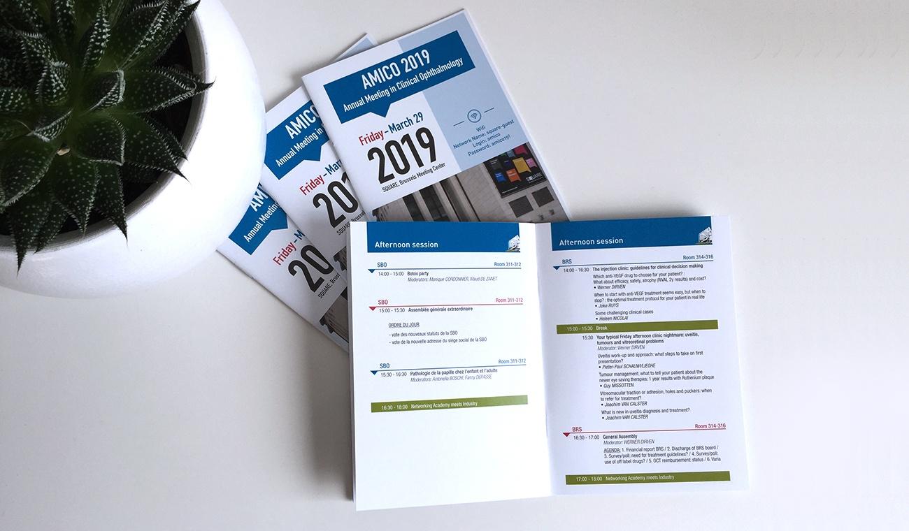 Ontwerp van het AMICO 2019 programmaboek
