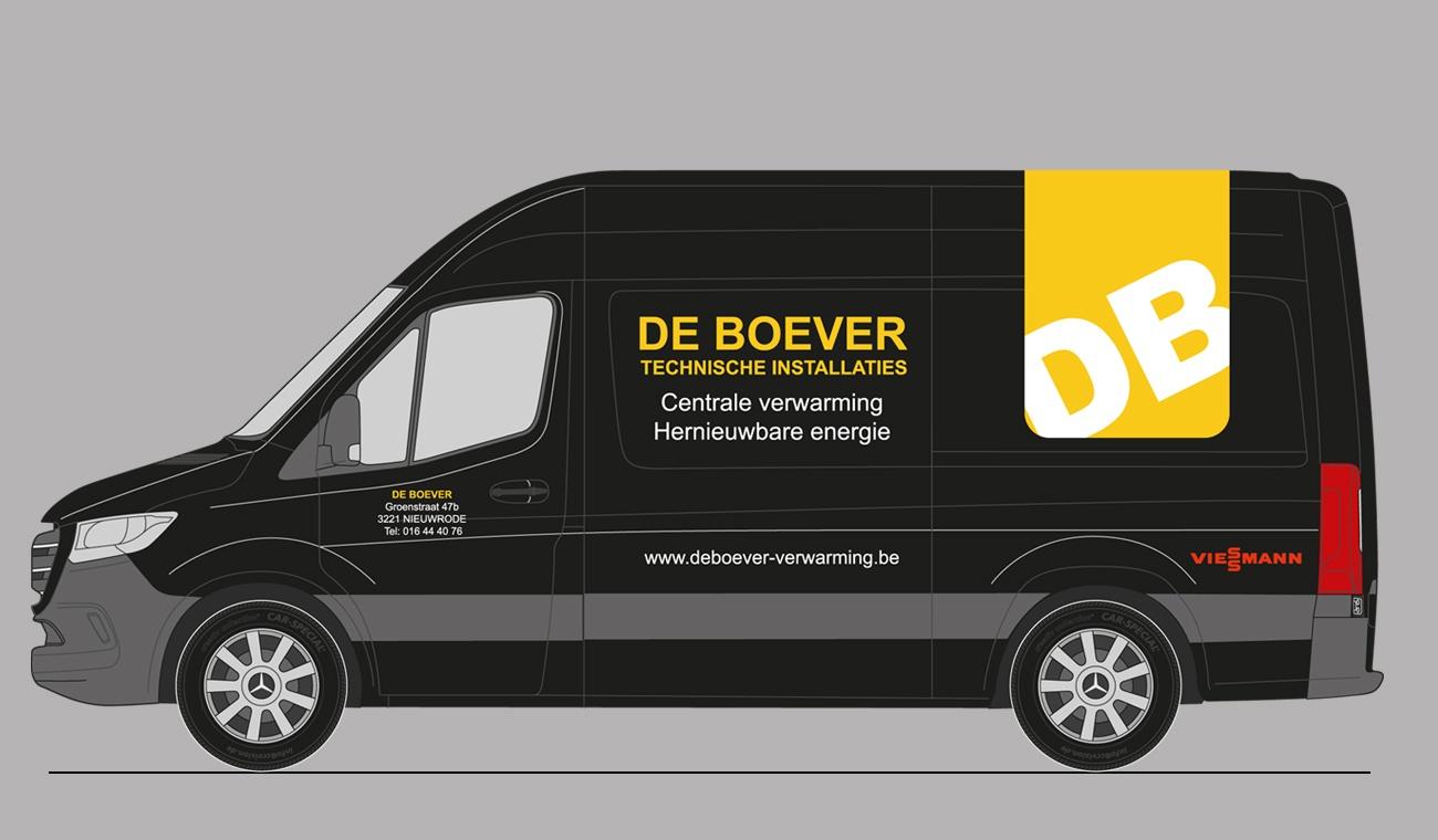 Ontwerp De Boever logo en voertuigbranding
