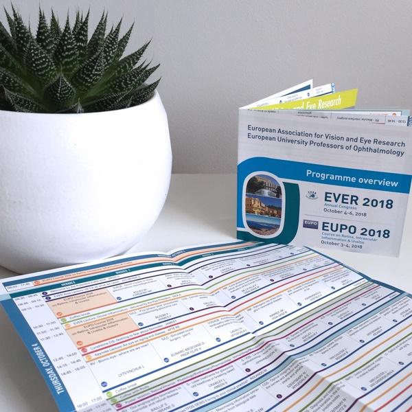 Opmaak EVER 2018 programma overview zakformaat