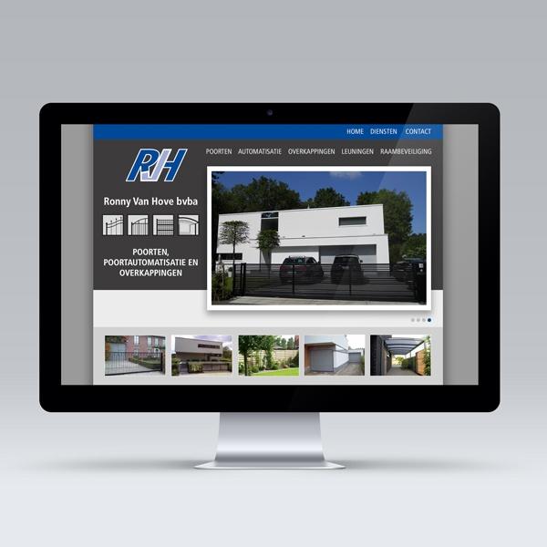 Opmaak Content Management website Ronny Van Hove
