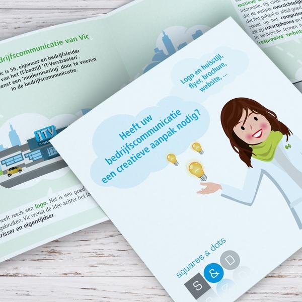 Ontwerp en opmaak corporate brochure squares & dots