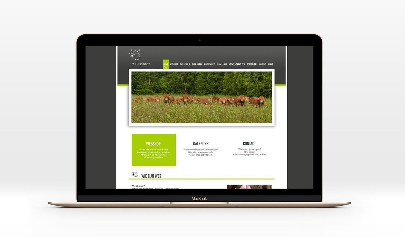 Opmaak en uitwerking website met webshop Silsomhof