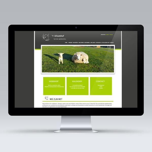 Opmaak en uitwerking webshop website Silsomhof