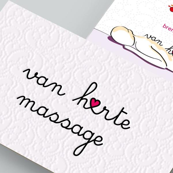 Opmaak logo en naamkaartje Van Harte Massage