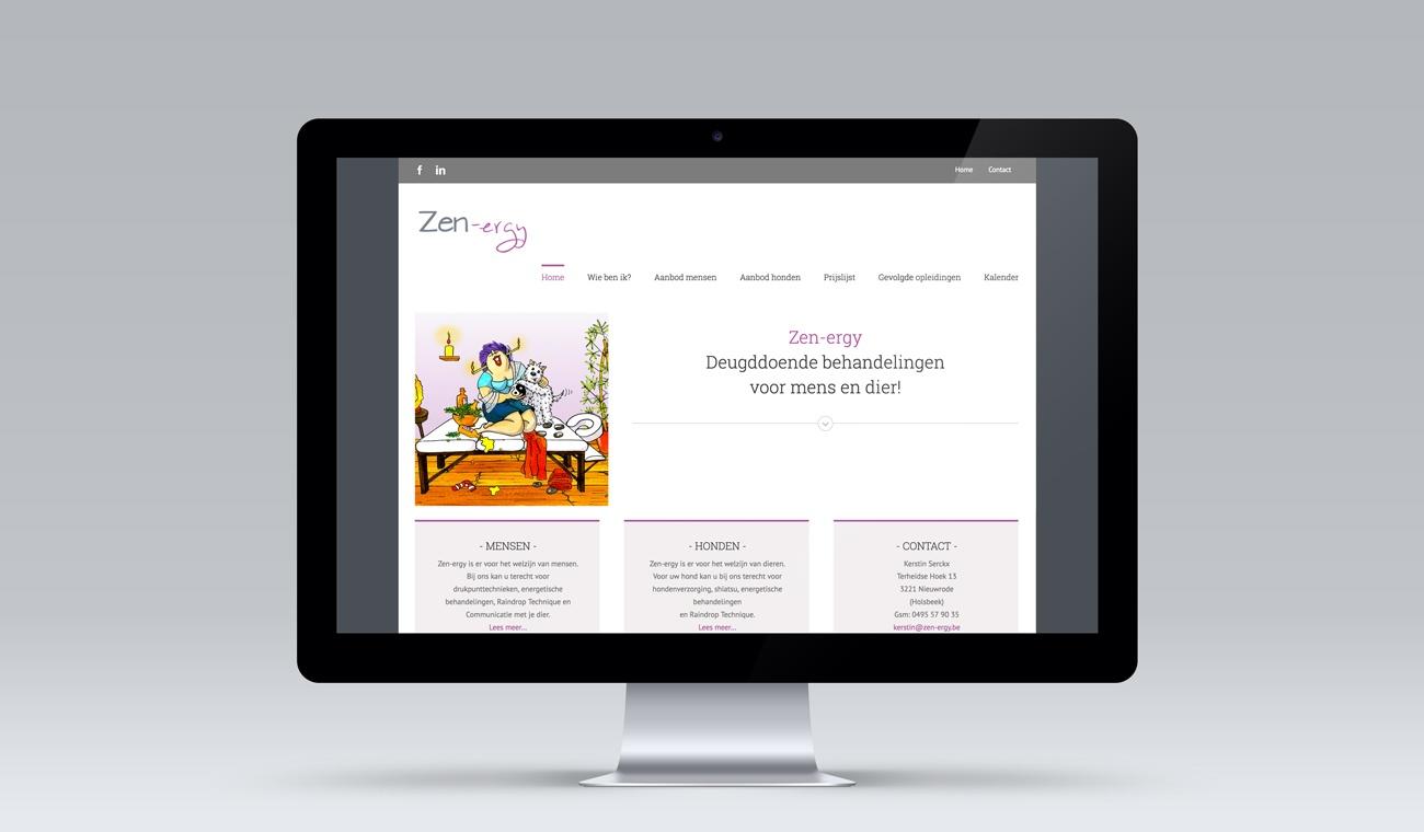 Opmaak en uitwerking Wordpress website Zen-ergy