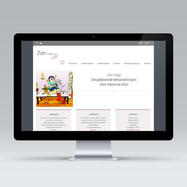 Opmaak en uitwerking website Zen-ergy